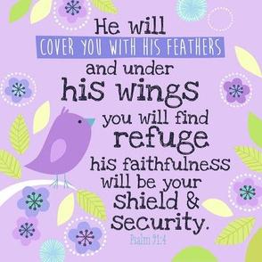 Bright Psalm 91:4 8x8