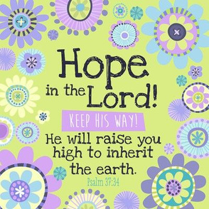 Bright Psalms37:34 8x8