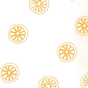 Citrus: Orange Tea Towel