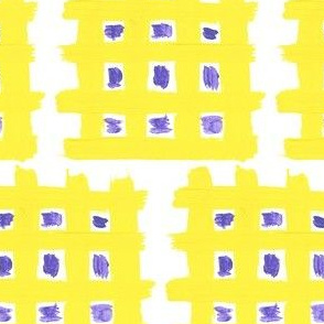 Yellow Waffles with Purple Syrup