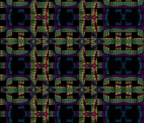 green blue yellow purple weave fabric by tell3people on Spoonflower - custom fabric