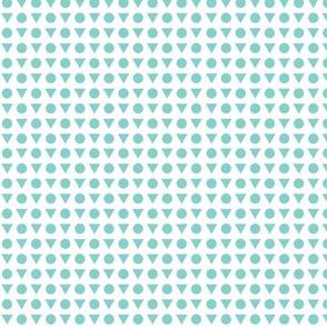 Geometric Minty Blue
