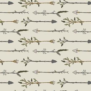 Twiggy Arrows Uneven - Cream