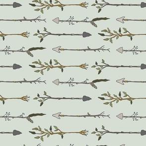 Twiggy Arrows Uneven - Pale Seaspray