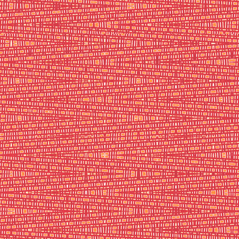 Reds and Oranges Distorted fabric by anniedeb on Spoonflower - custom fabric