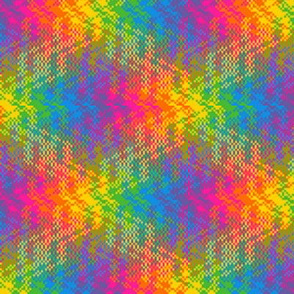 Watery Rainbow Plaid 2