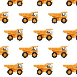 dump trucks - orange