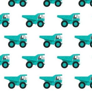 dump trucks - green