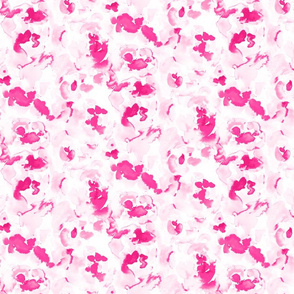 Abstract Flora Hot Pink Small Scale