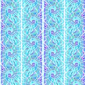 Tie Dye Spiral Stripe in Aqua and Purple
