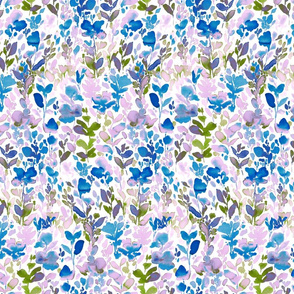 Flirt Lavender Green and Blue Small Scale