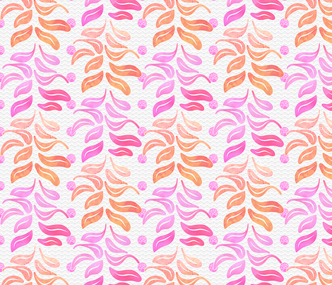 Pink Leaf Columns fabric by piper_&_paige on Spoonflower - custom fabric