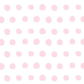 Pale Pink Watercolor Polka Dots