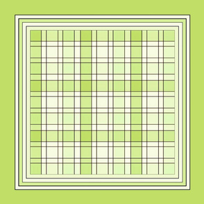 Lt. green plaid pillow top