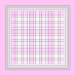 Pink Plaid pillow top