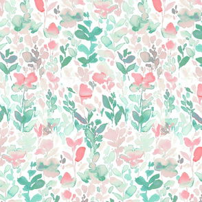 Flirt Mint Coral Large Scale
