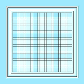 Turquoise Plaid pillow top