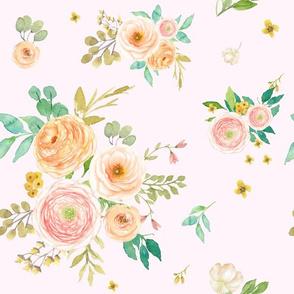 "12"" Peach & Pink Extra Florals - Pink"