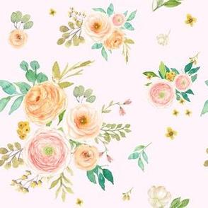 "6"" Peach & Pink Extra Florals - Pink"