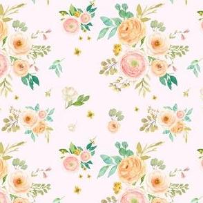 "4"" Peach & Pink Extra Florals - Pink"