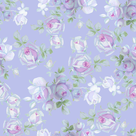 Ute blue violet fabric by lilyoake on Spoonflower - custom fabric