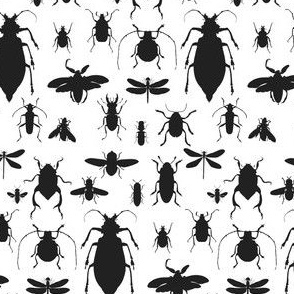 "4"" Bugs Collection - Black & White"