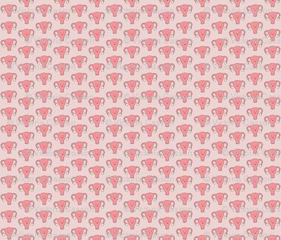 Happy Uterus in Pink, small repeat