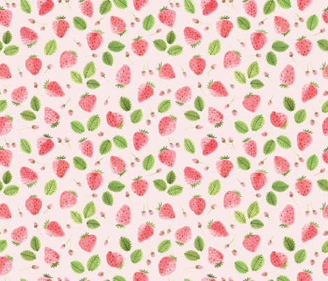 strawberry_field fabric by ldpapers on Spoonflower - custom fabric