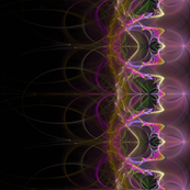 Magical Bells Fractal Border Print