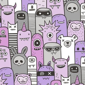 Monsters and Friends Purple