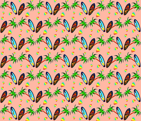 Reflections in the Sand fabric by lizzystitch_-_j_scanlon on Spoonflower - custom fabric