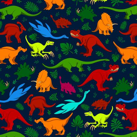 Little Dinos 2 fabric by jadegordon on Spoonflower - custom fabric