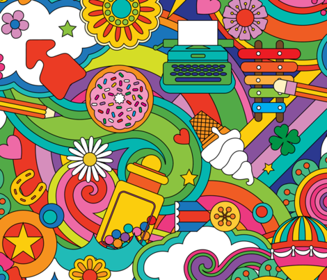 Sugar High fabric by drawpilgrim on Spoonflower - custom fabric