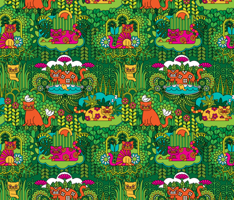 Lords of the Jungle fabric by drawpilgrim on Spoonflower - custom fabric