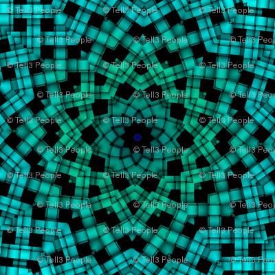 green blue weave