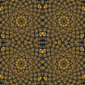 orange black grey kaleidoscope