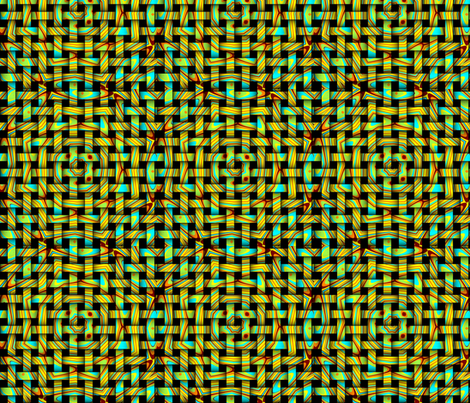 lime green brown yellow turquoise orange fabric by tell3people on Spoonflower - custom fabric