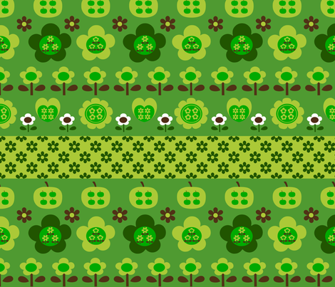 picnic_border_green fabric by 257 on Spoonflower - custom fabric