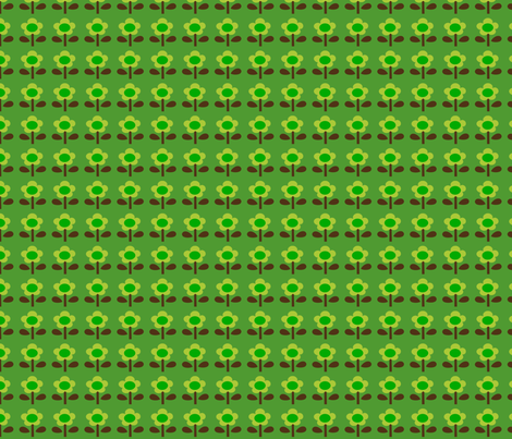 picnic_flower_green fabric by 257 on Spoonflower - custom fabric