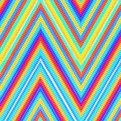 Rainbow Tie Dye Chevron Stripe