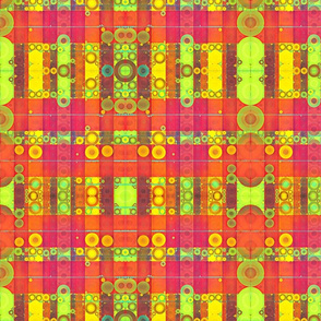 Abstract bright colored plaid
