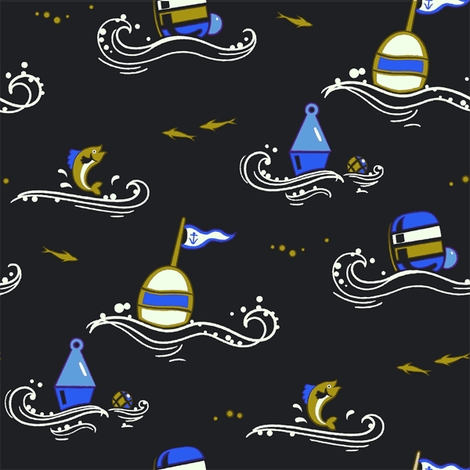Marine Buoys 1c fabric by muhlenkott on Spoonflower - custom fabric