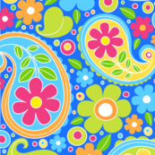 funky floral paisley