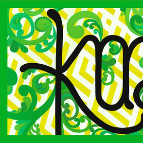 Kai/Eat Teatowel - Green+Yellow