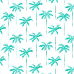 watercolor palm - teal