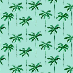 watercolor palm - green v2