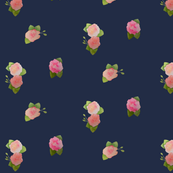 Navy and Pink Floral