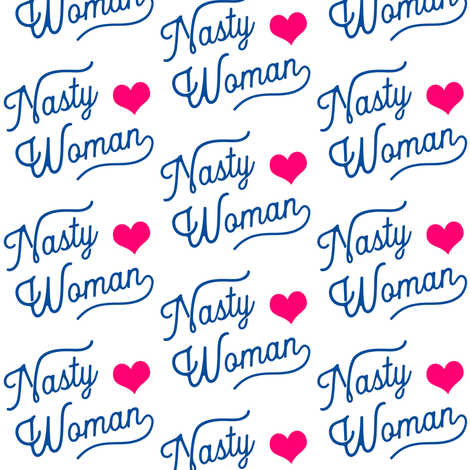 Nasty Woman White and Pink fabric by brainsarepretty on Spoonflower - custom fabric