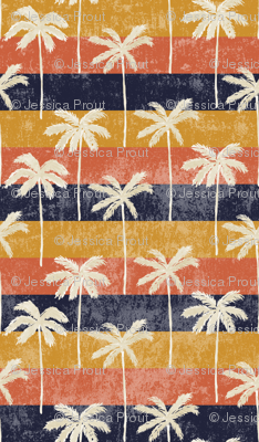 palm tree on retro stripes