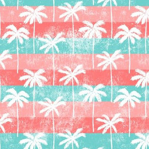 palm tree on retro pink stripes